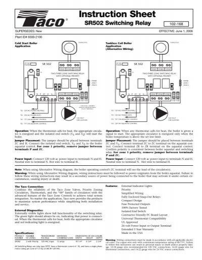 taco 503 switching relay wiring diagram sr502  102 168  in sh w fuses taco hvac  sr502  102 168  in sh w fuses taco hvac