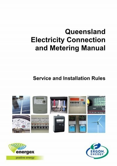 Queensland Electricity Connection and Metering ... - Ergon EnergyYumpu