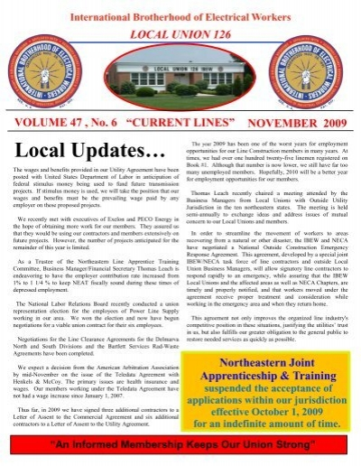 Local Union 126 Current Lines Ibew Local 126