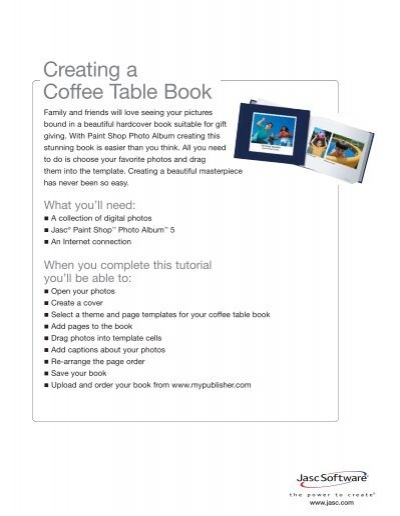 Creating A Coffee Table Book Corel - Create photo coffee table book