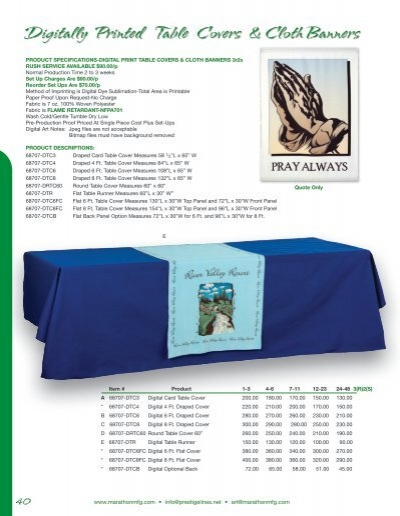 Table Cloth Banners Construction Industry Banners