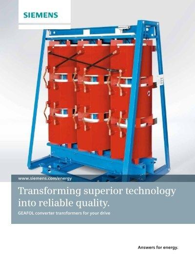 GEAFOL Static Converter Transformers - Siemens Energy