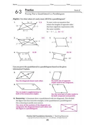 Name Class Date 6-3 Pract