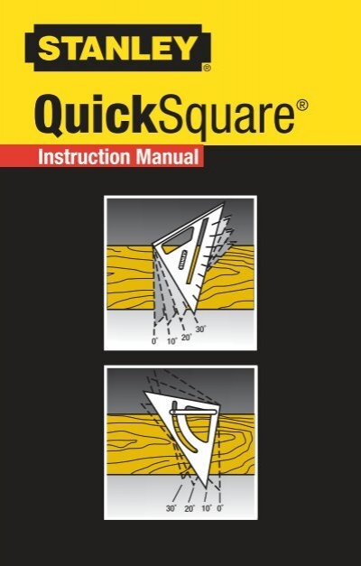 stanley quick square instruction manual