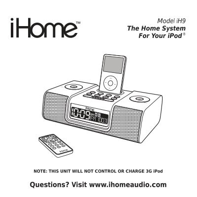 ihome ip9 user guide user guide manual that easy to read u2022 rh wowomg co Pink iHome for iPod iHome iP9 Won't Turn On