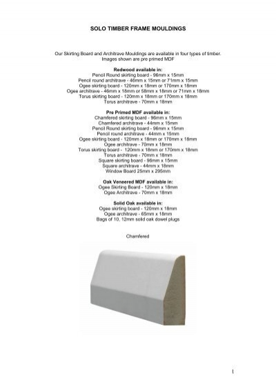 Moulding Options.pdf - Solo Timber Frame Houses