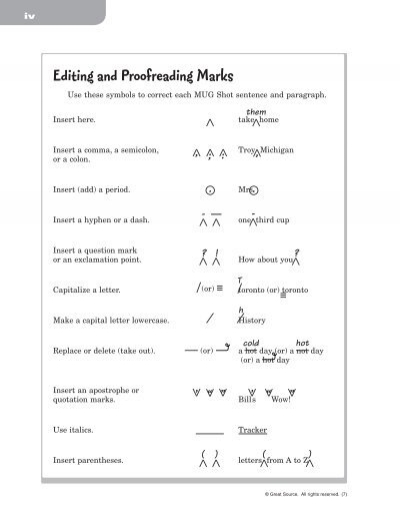 Editing And Proofreading Marks Rebeccawahl