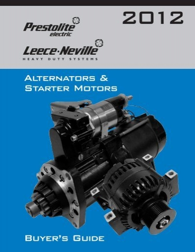 Alternators starter motors buyer 39 s guide prestolite for Castellano electric motors inc