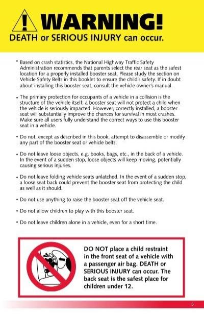 4 warning death or serio rh yumpu com Britax Decathlon Car Seat Britax Decathlon Expiration
