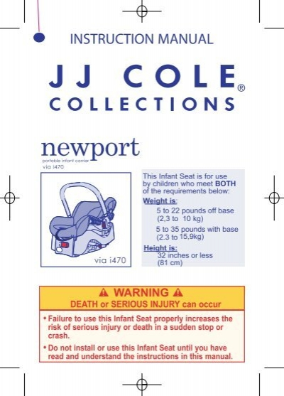 Newport Car Seat Instruction Manual Jj Cole Collections