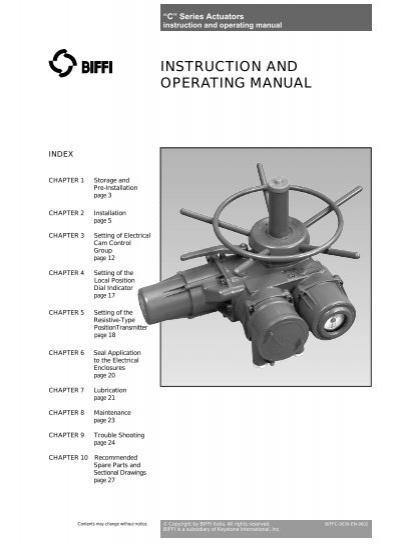 biffi c series actuator wiring diagram wiring diagrams 2 c actuator