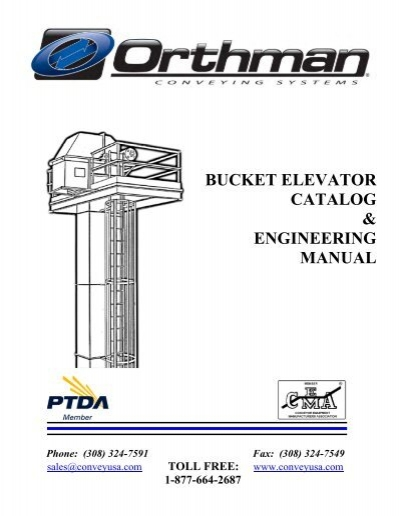 bucket elevator catalog engineering manual orthman conveying rh yumpu com Bucket Elevator Chain Bucket Elevator Components