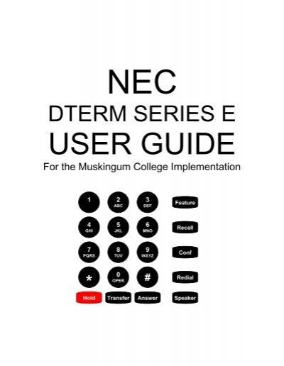dterm series e telephones rh yumpu com dterm series e nec manual voicemail dterm series e nec manual voicemail