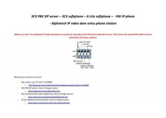3CX softphone - ALPHATECH TECHNOLOGIES sro