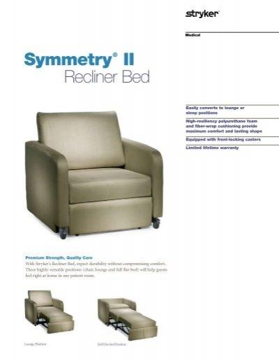 Symmetry 174 Ii Recliner Bed Stryker