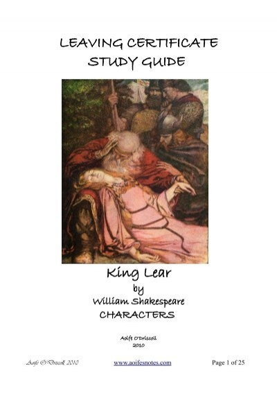 an analysis of moral order in king lear by william shakespeare