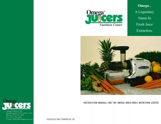 omega juicer assembly instructions