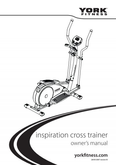 york inspiration cross trainer. york inspiration cross trainer