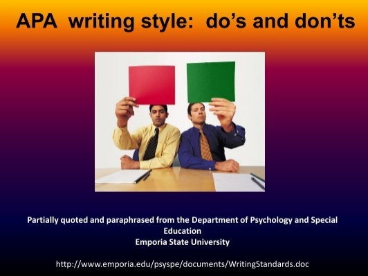 apa writing style Apa formatting and style guide the basics regulate the language, procedures and formatting of manuscripts and other writing according to apa style.