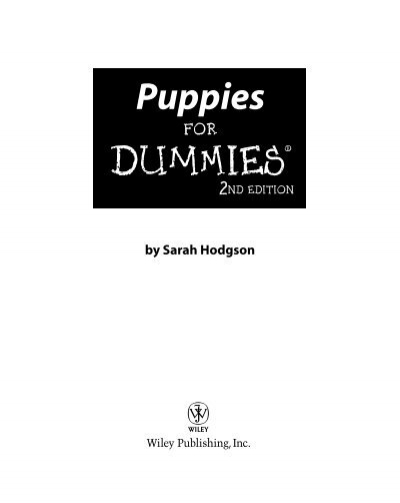 Puppies For Dummies pdf - Mr  Walnuts