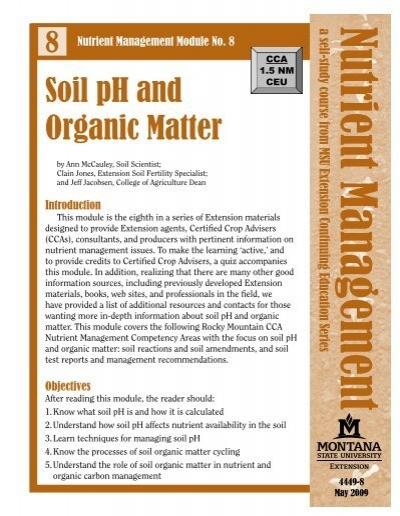 Precipitation increasing for Soil organic matter pdf