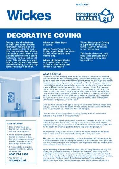 coving corner template - duropolymer covin