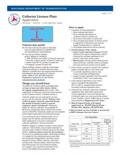 Wisconsin department of motor vehicles license plate for Department of motor vehicles registration online