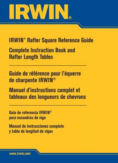 Irwin Rafter Square Reference Guide Complete Instruction Book