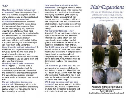 Hair extensions leaflet here absolute fitness hair beauty pmusecretfo Gallery