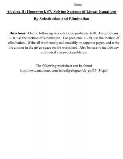 Intermediate Algebra Skill Solving 2 x 2 Linear System by ...