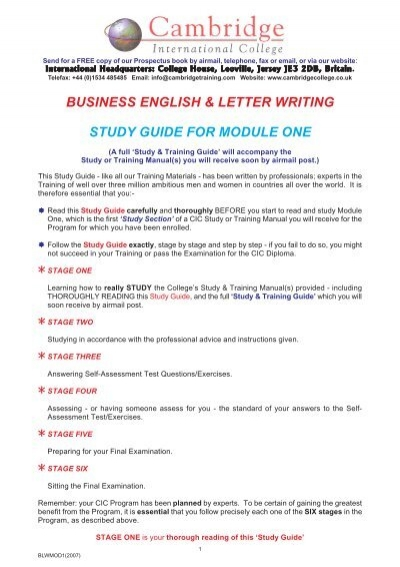 business english letter writing cambridge international college