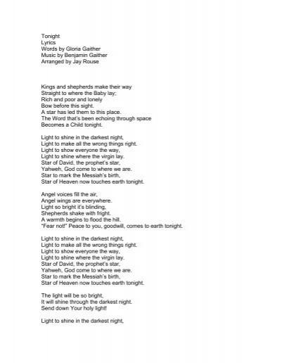 lyrics tonight