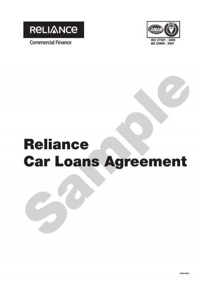 Mortgage Loan Agreement  Reliance Commercial Finance