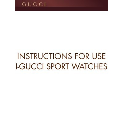 Instructions For Use I Gucci Sport Watches Guccitimeless