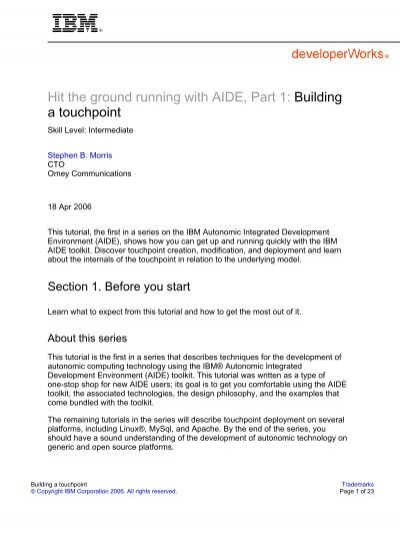 Hit the ground running with AIDE, Part 1: Building a