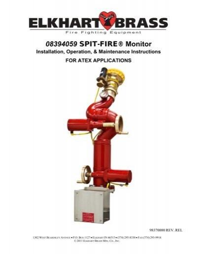 08394059 spit fire� monitor elkhart brass Joysticks Connections Diagram