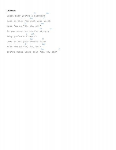 Verse 2 G Am You Dont H