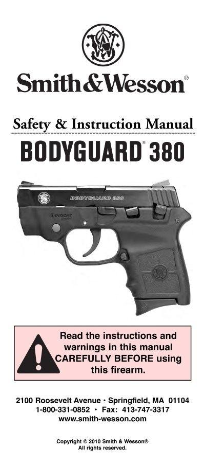 S U0026w Bodyguard 380 Pistol Manual