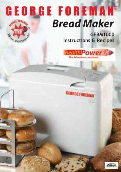 george foreman breadmaker instructions