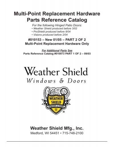 Hinged Patio Door Replacement Hardware   Weather Shield