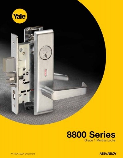 Yale 8000 Series Mortise Lock Catalog Door Hardware