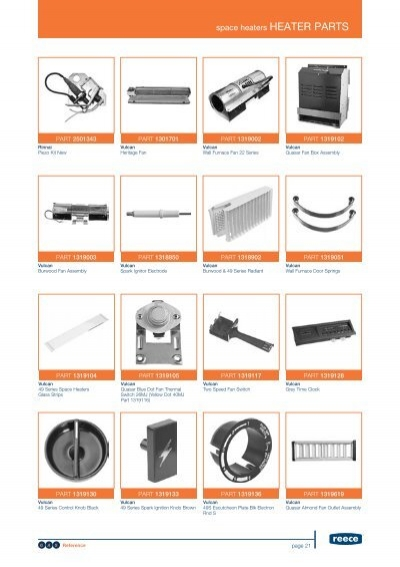 Portable Heater Parts Fan Blades : Heater parts space