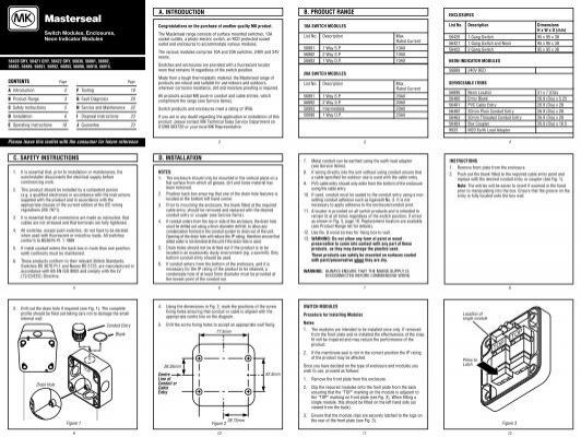 Installation Manual Mk Electric