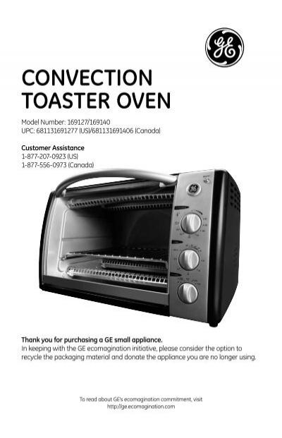 Ge Convection Toaster Oven ~ Convection toaster oven ge housewares