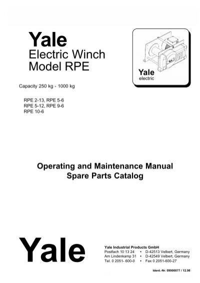 Enchanting Yale Wire Rope Hoist Festooning - Schematic Circuit ...