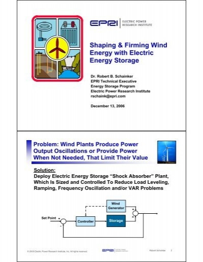 Shaping & Firming Wind Energy with Electric Energy Storage