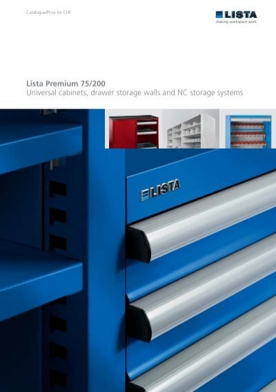 Lista Premium 75/200 Universal Cabinets, Drawer Storage Walls And .