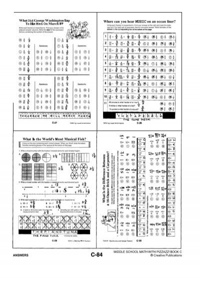 Printables Algebra With Pizzazz Worksheets famous ocean liner math worksheet pre algebra with pizzazz what did gee washingto