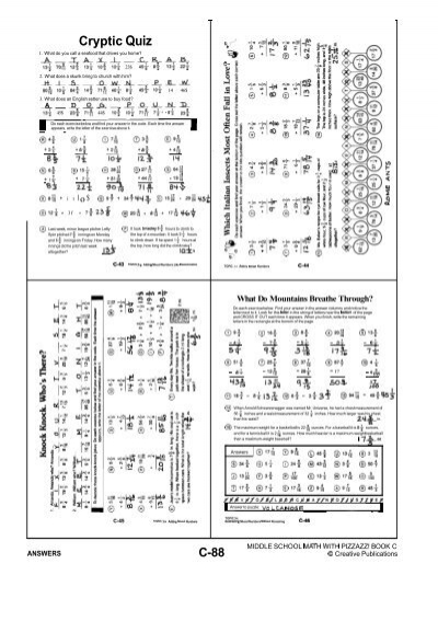 Printables Algebra With Pizzazz Worksheets sum code worksheet answers pre algebra with pizzazz intrepidpath page 34 worksheets