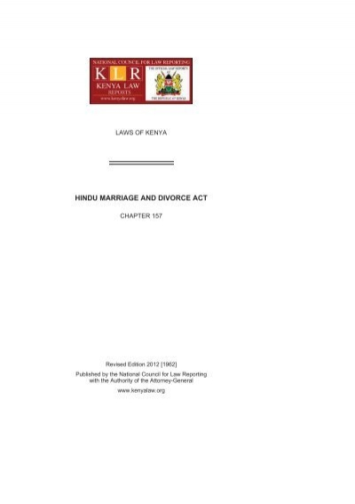 hindu marriage and divorce act